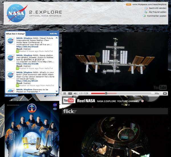 NASA auf mySpace