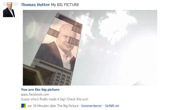 "Individualisiertes Video von ""The Big Picture"" auf Facebook"