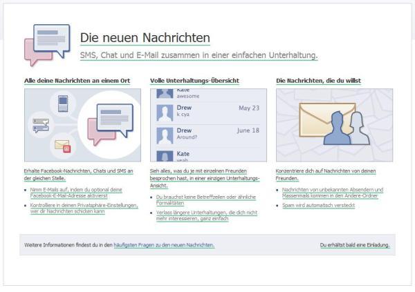 """Facebook """"die neuen Nachrichten"""""""