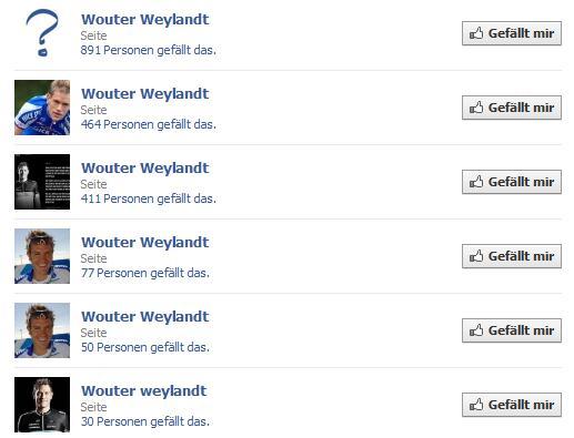 "Facebookseiten ""Wouter Weylandt"""