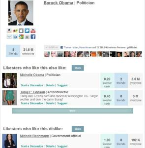 Barack Obama auf Likester.com