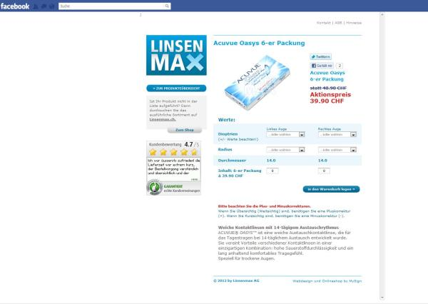 Facebook Shop von Linsenmax