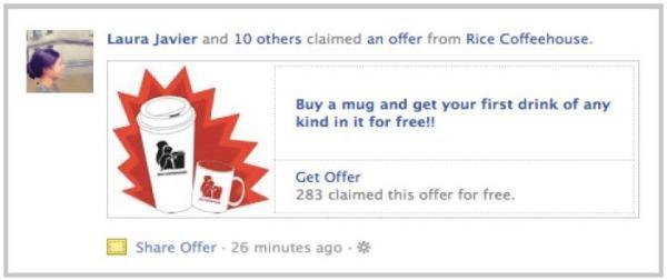 Facebook Offers: Newsstory sichtbar für Freunde