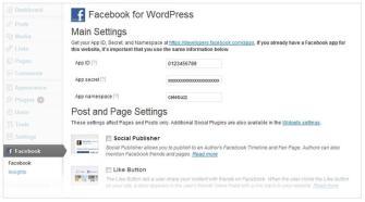 Backend in WordPress (Quelle: Facebook Developers Blog)