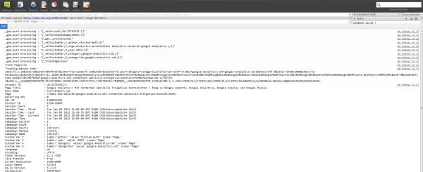 Google Analytics Tracking Beacon Daten - Kein Fehler