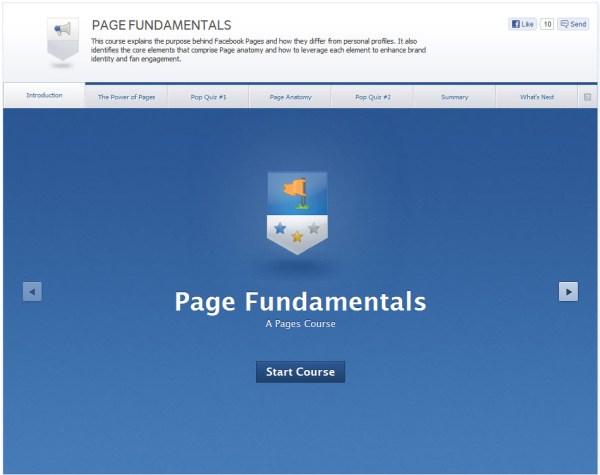 Page Fundamentals - Startscreen