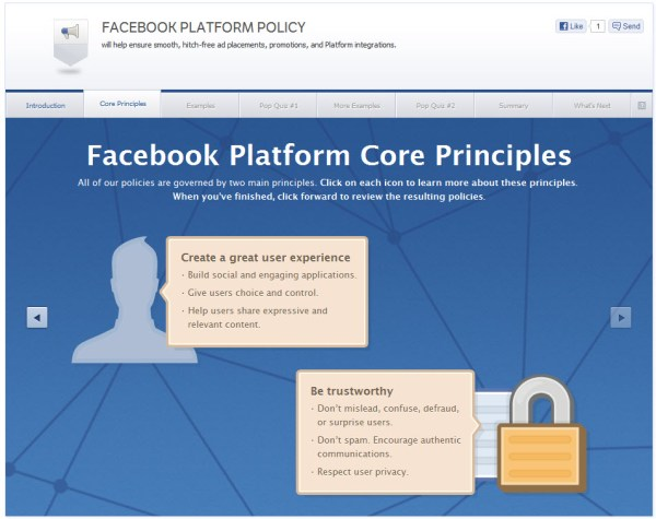 Facebook Platform Policy - Core Principles