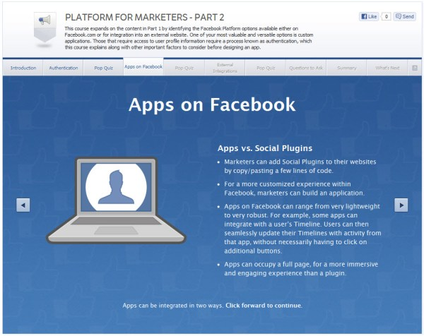 Platform for Marketers - Part 2 - Apps on Facebook