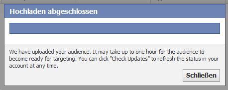 Audiences für Facebook Ads (Benutzerdefiniertes Publikum) - Hochladen einer neuen Audience