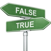Street signs True False (Copyright by istockphoto.com)