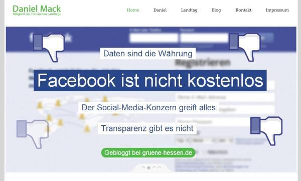 Überschriften wie die Bild Zeitung .... (Screenshot der Website danielmack.de)