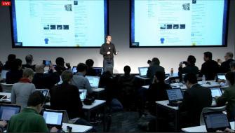 Mark Zuckerberg präsentiert den neuen News Feed