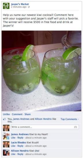 Beispiel einer Facebook Promotion in der Chronik einer Seite