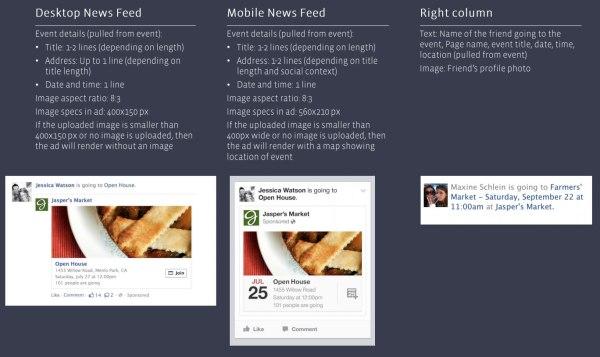 Facebook Event Sponsored Story