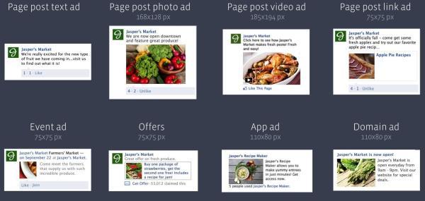 Facebook Premium Ads Formate rechte Spalte