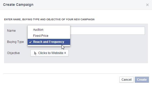 """Neue Auswahlmöglichkeit """"Reach & Frequency"""""""