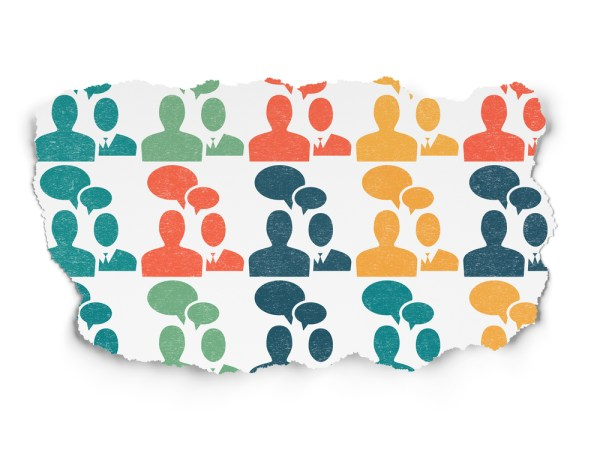Finance concept: Painted multicolor Business Meeting icons on Torn Paper background by shutterstock.com