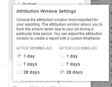 Attributionseinstellung beim Facebook Ads Reporting