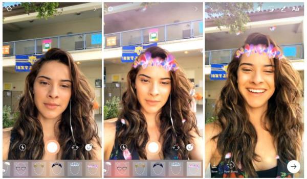 Instagram neu mit Face Filter Funktion (Quelle: Instagram)