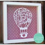 Hot Air Balloon Papercutting