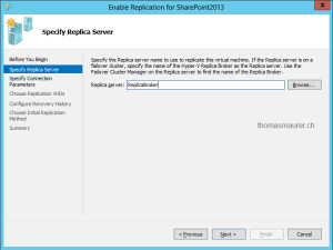 Enable Hyper-V Virtual Machine Replication Destination