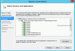 Cluster Migration Wizard Old Cluster Roles