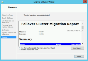 Failover Cluster Migration Report