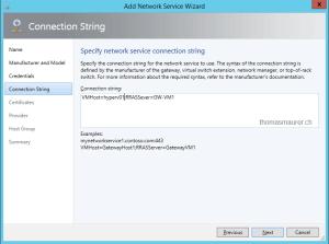 Hyper-V Network Virtualization Gateway connection string
