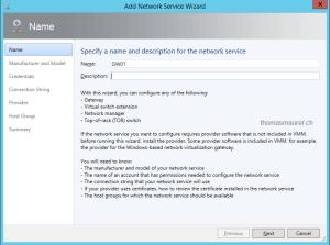 Microsoft Hyper-V Network Virtualization Gateway in Virtual Machine Manager
