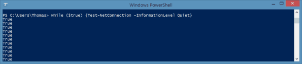 Ping -t with PowerShell