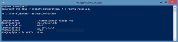 PowerShell Test-NetConnection