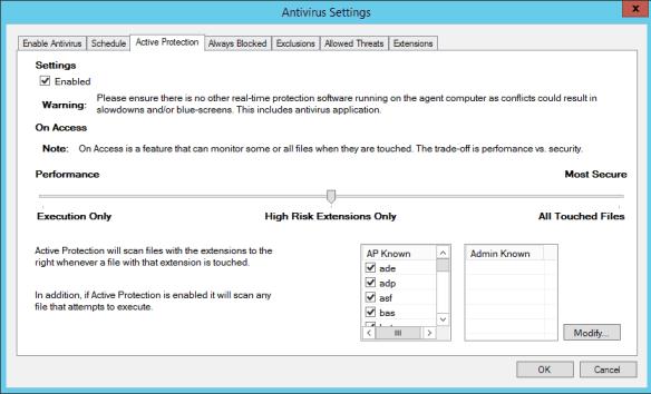 5Nine Hyper-V Security Antivirus Settings