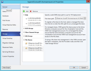 Add File Share to Hyper-V host