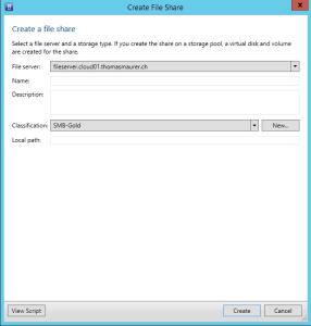 Create File Shares