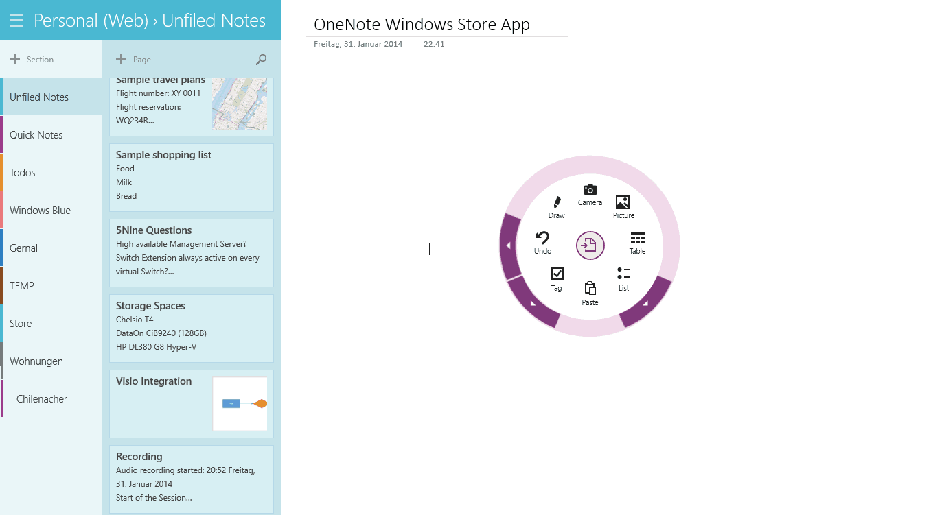 how to create a shared onenote