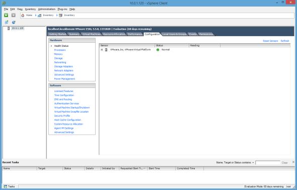 VMware ESXi vSphere Client Configuration