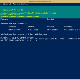 OneGet PowerShell