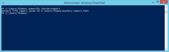 powercfg batteryreport