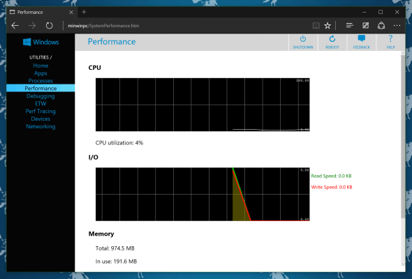 Windows 10 IoT Web Performance