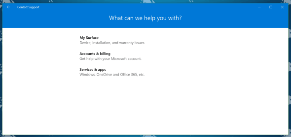 Windows 10 Contact Support App
