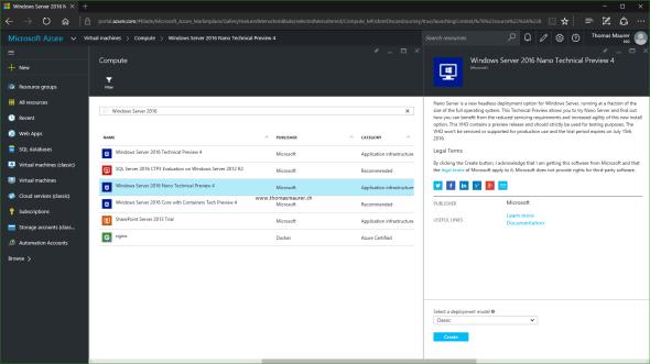 Nano Server on Azure