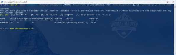 Hyper-V Prerelease Virtual Machine