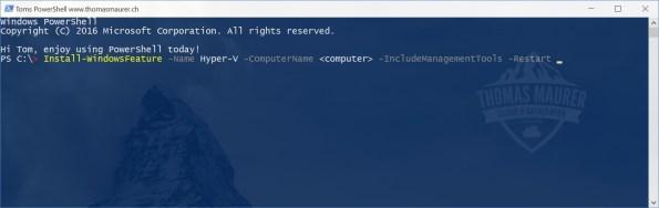 Install Hyper-V on Windows Server using PowerShell