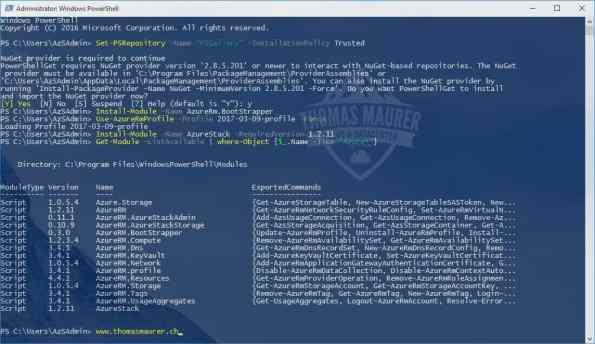 Install Azure Stack PowerShell