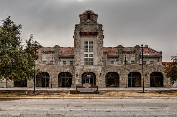 Union Station, located at 300 SW 7th Street, Oklahoma City, OK. Closed to the public in 1967 following the discontinuance of passenger trains serving Oklahoma City.