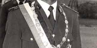 Jean Baptiste Ouedraogo lorsqu'il était président de la Haute Volta ©archives nationales du Burkina