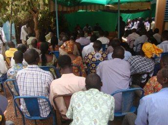 Affluence à la conférence de presse (photo Amidou Kabré)
