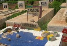 La tombe profanée (photo Gabriel Kambou)
