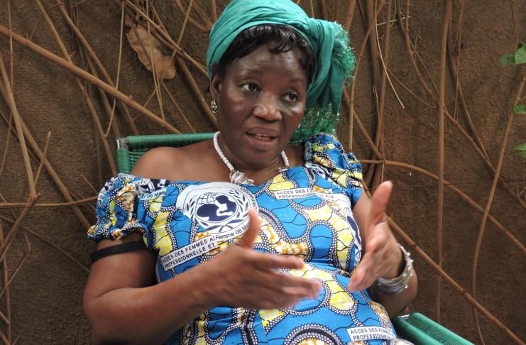Damata Ganou coordinatrice du CDR d'Air Burkina (Photo Roger Sànchez Esteban)