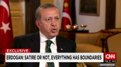 Erdoğan bei Christiane Amanpour über den Rechtsstaat | Screenshot © CNN
